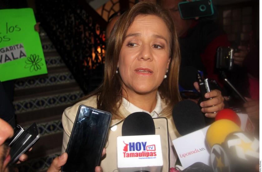 La aspirante independiente a la Presidencia de la República, Margarita Zavala, aseveró que su nombre estará impreso en la boleta electoral y que le ganará a López Obrador.