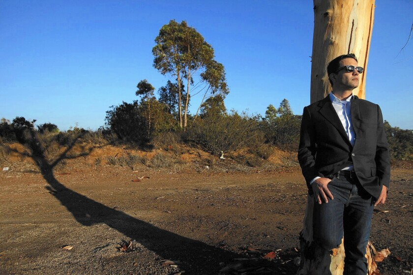 Developer Richard Weintraub stands on the Malibu site that he hopes to turn into a memorial park.