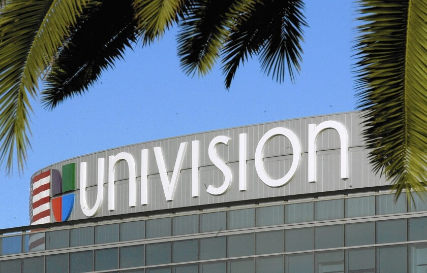 Univision logo on a building