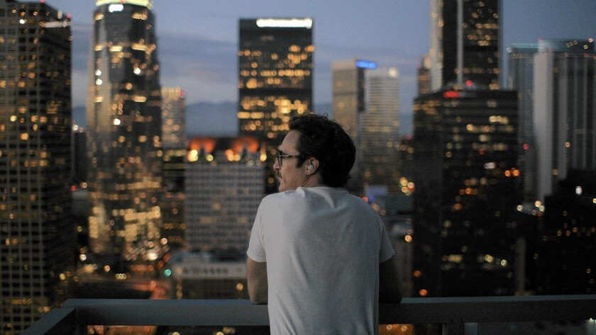 "The sparkling L.A. skyline in Spike Jonze's ""Her,"" starring a lovelorn Joaquin Phoenix, underwent digital enhancement."