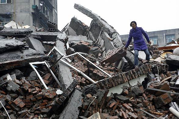 Dujiangyan, Sichuan province, China Quake - Day Two
