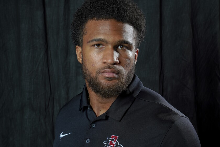 San Diego State junior safety Tariq Thompson is a two-time all-Mountain West selection for the Aztecs.