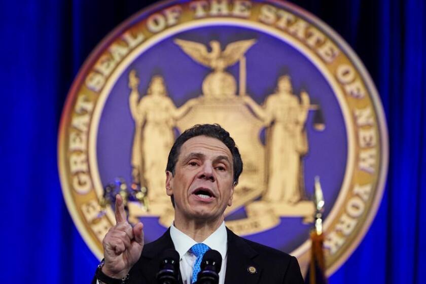 Fotografía del gobernador de Nueva York, Andrew Cuomo. EFE/EPA/Archivo