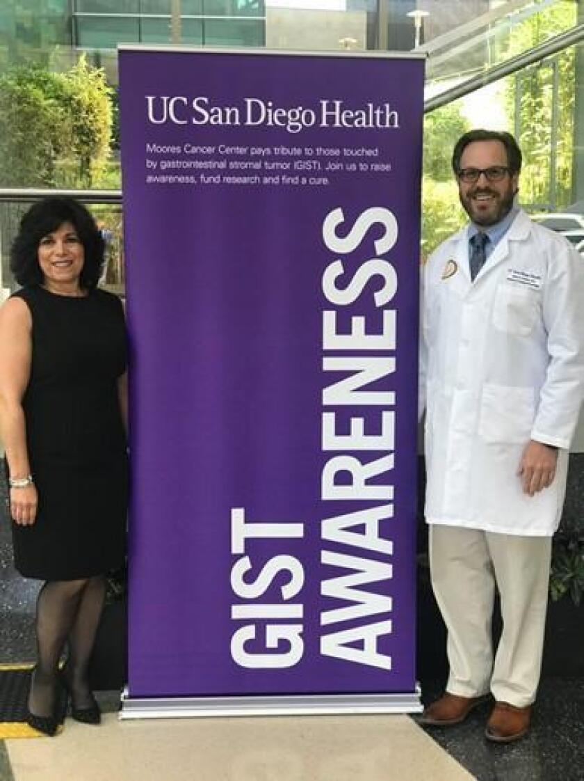 Together with Debra Melikian and Dr. Jason Sicklick, Moores Cancer Center will recognize GIST Awareness for the month of July.