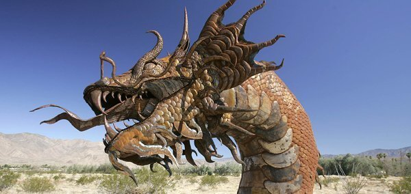 Artist finishes Borrego sea serpent