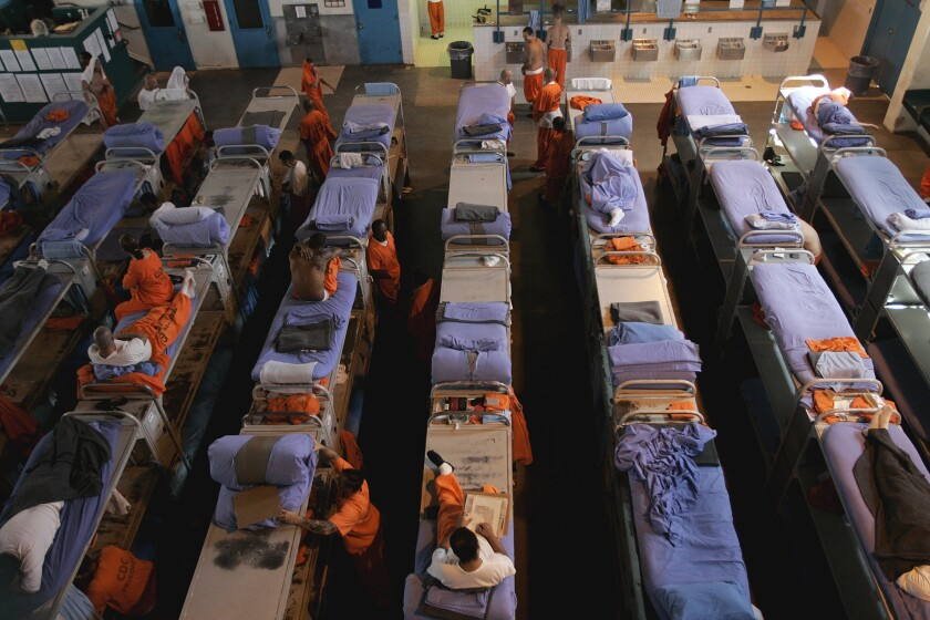 Proximity means California prison inmates are at higher risk of spreading the virus.