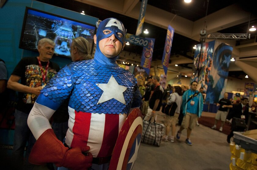 Comic-Con attendees frequently dress up as comic book characters for the annual four-day event.