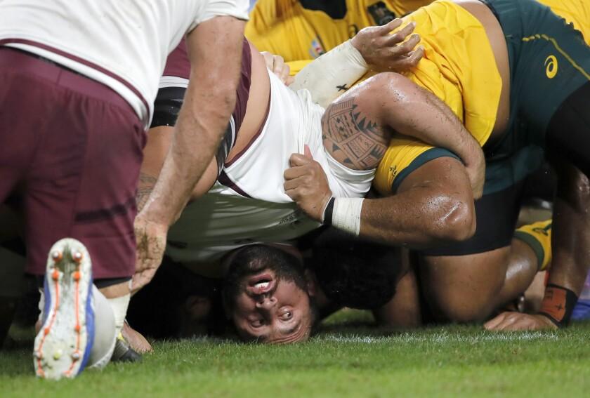 Japan Rugby WCup Australia Georgia