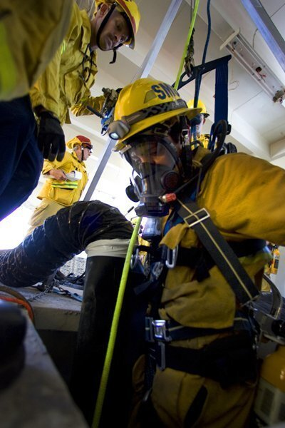 San Diego County technical rescue exercise