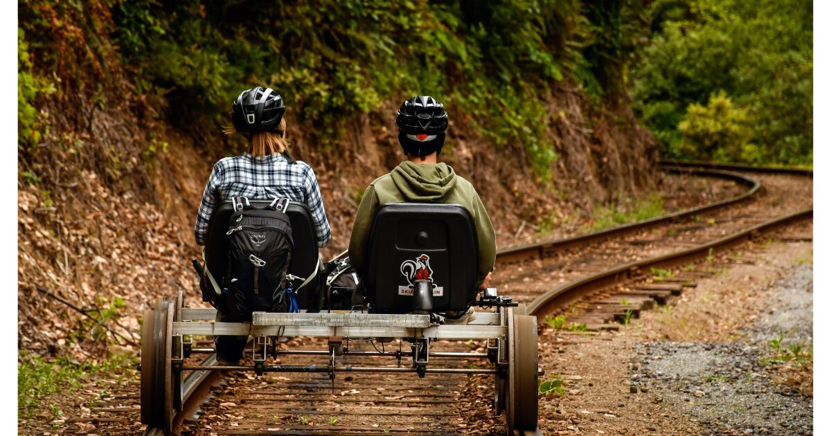 A unique way to see the redwoods? Try a railbike — part of a trend sweeping the U.S.