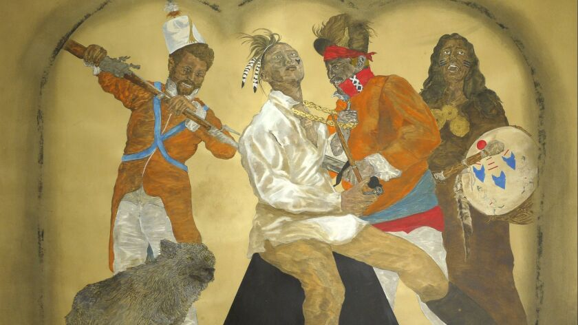 Umar Rashid (Frohawk Two Feathers) at the Vincent Price Art Museum