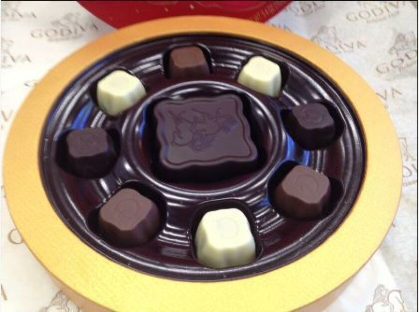 The mooncake collection from Godiva.