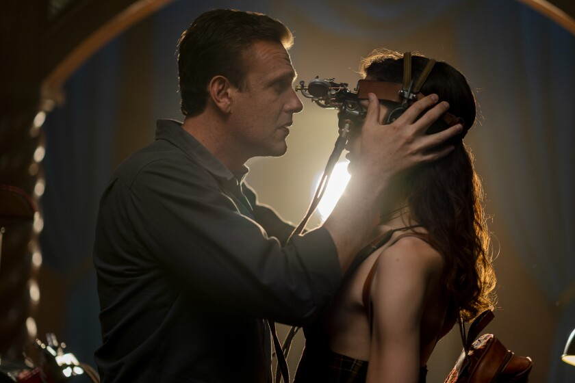 """Jason Segel and Eve Lindley costar in the new AMC series """"Dispatches from Elsewhere."""""""