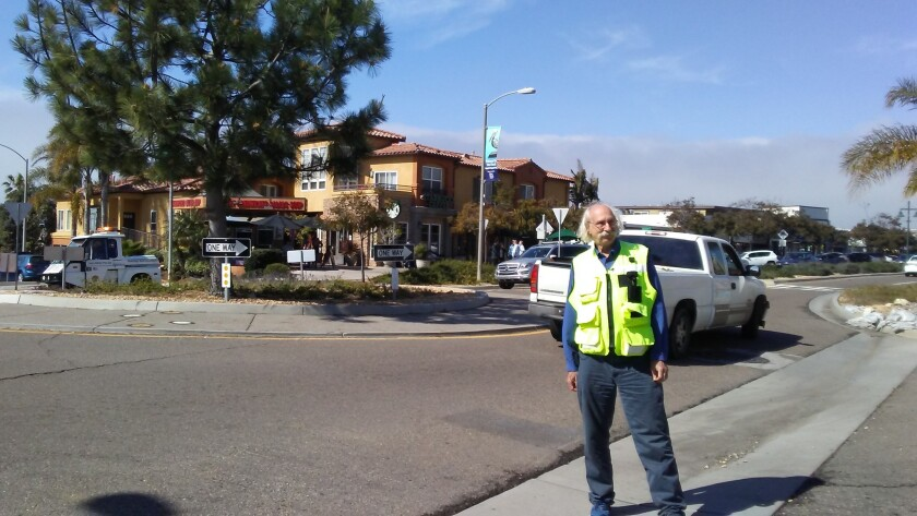Victory lap: Transportation consultant Dan Burden tours one of his favorite street projects on Wednesday.