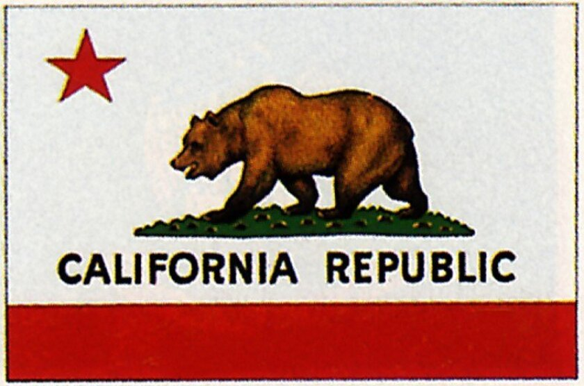 The state flag of California.