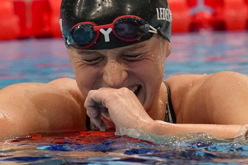 Katie Ledecky of the United States.