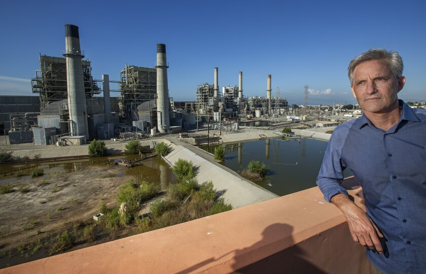 Redondo Beach Mayor Bill Brand by the AES gas plant