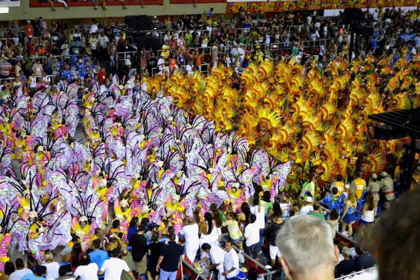 The highlight of Carnival in Rio is the Samba Parade, with a mix of floats, dancers and eye-popping colors.