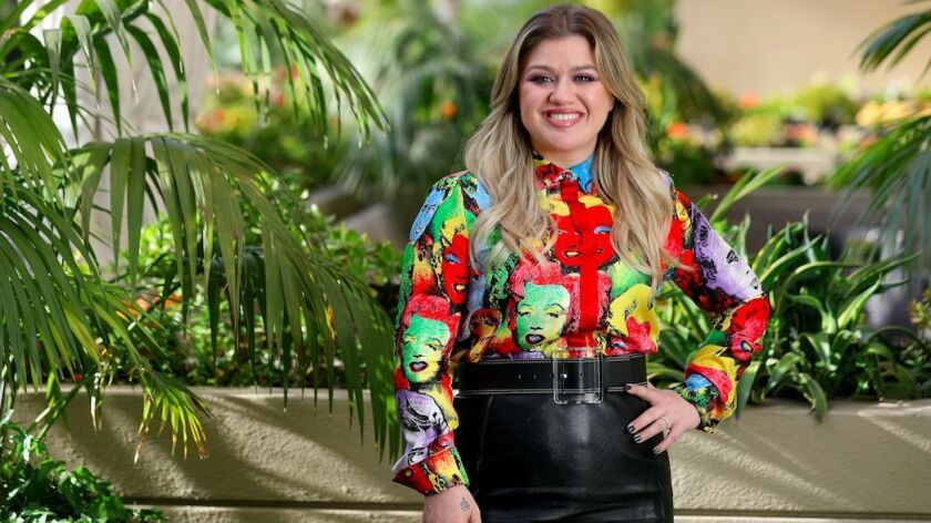 LOS ANGELES, CALIF. -- SUNDAY, APRIL 14, 2019: Kelly Clarkson at the Four Seasons in Los Angeles, Ca