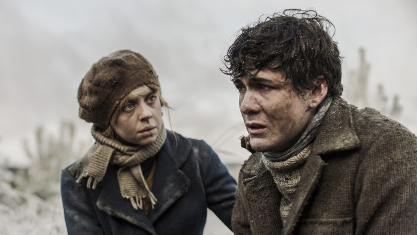 """Bel Powley and Jonah Hauer-King in the film """"Ashes in the Snow."""""""