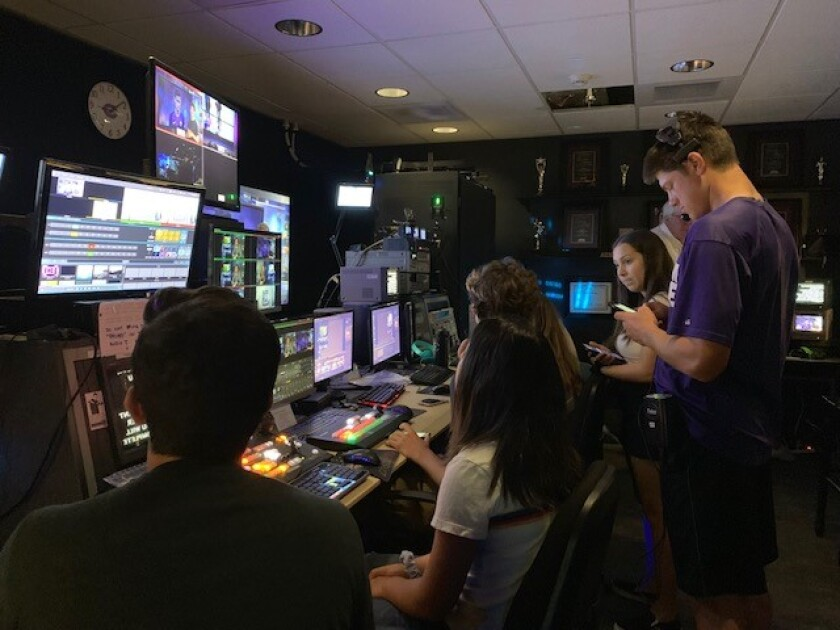 Valley Middle School and Carlsbad High broadcast journalists received the Student Television Network Award of Excellence.
