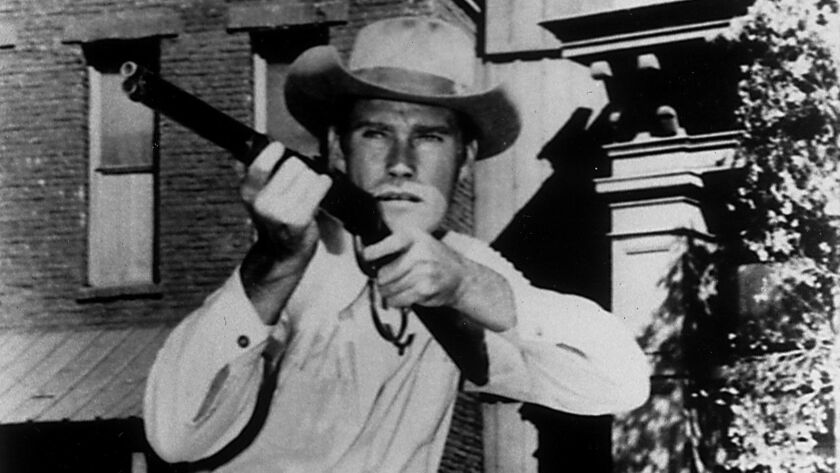 """––Chuck Connors of """"The Rifleman."""""""