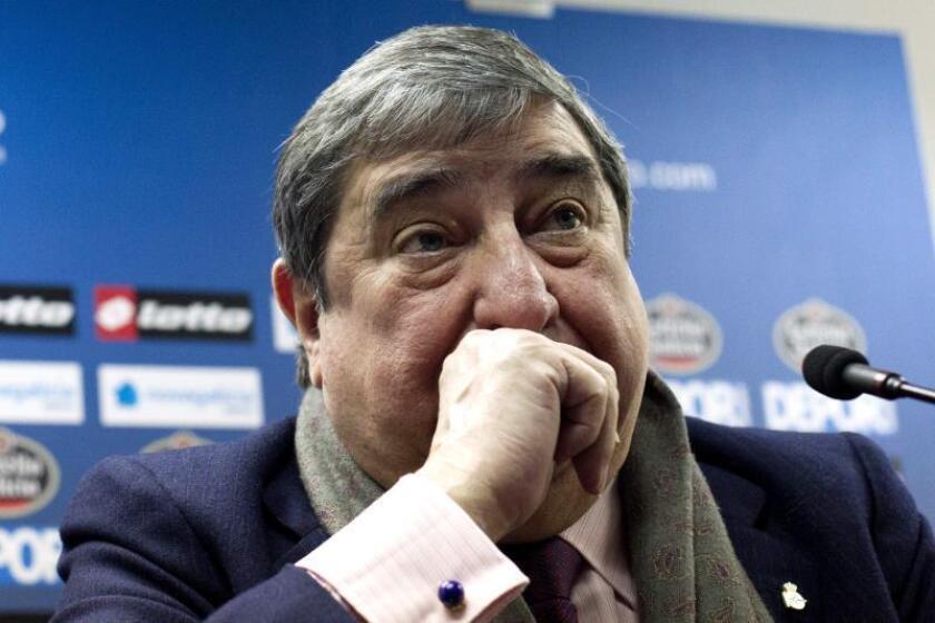 El expresidente del Deportivo de La Coruña, Augusto César Lendoiro. EFE/Archivo