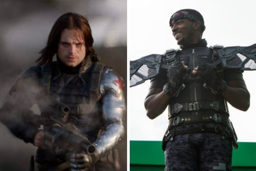 """El guion de la miniserie de Falcon (der.) y Winter Soldier estaría a cargo de Malcolm Spellman, conocido por su trabajo en """"Empire""""."""
