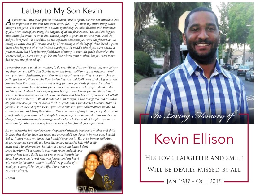 Kevin Ellison memorial program