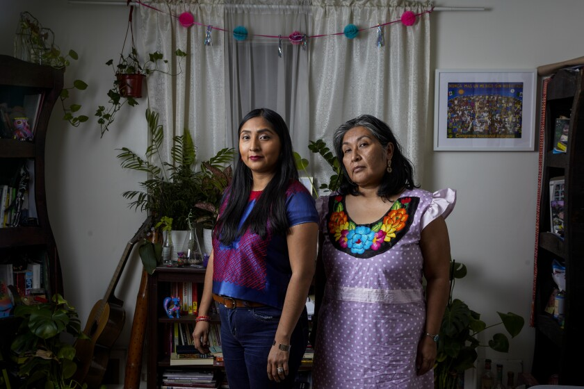 Janet Martinez and her mother, Odilia Romero, who train LAPD in communicating with indigenous people