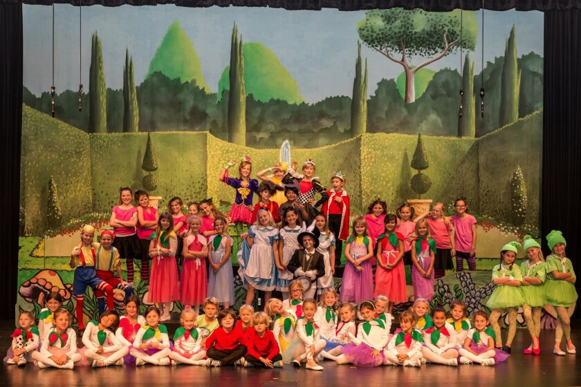 """The R. Roger Rowe cast of """"Alice in Wonderland."""""""