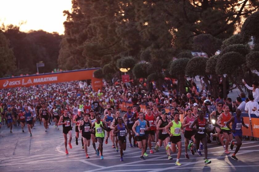 L.A. Marathon street closures