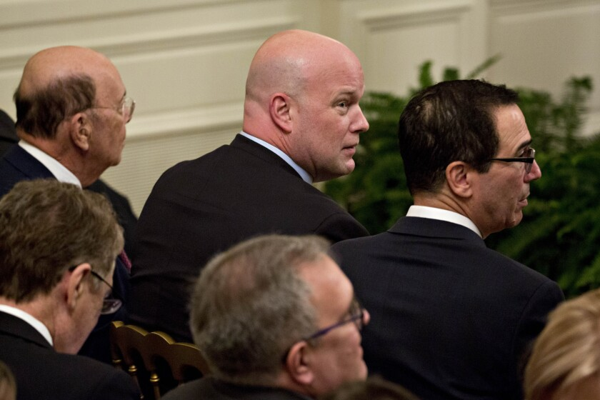 Acting U.S. Attorney General Matthew Whitaker