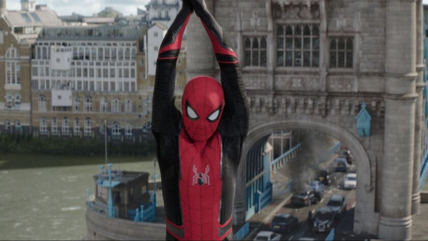 "Spider-Man (Tom Holland) in Columbia Pictures' ""Spider-Man: Far From Home."""