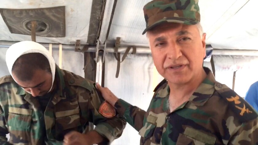 Maj. Gen. Muhsin Rashed Zangana, the Kurdish government's director of medical affairs.