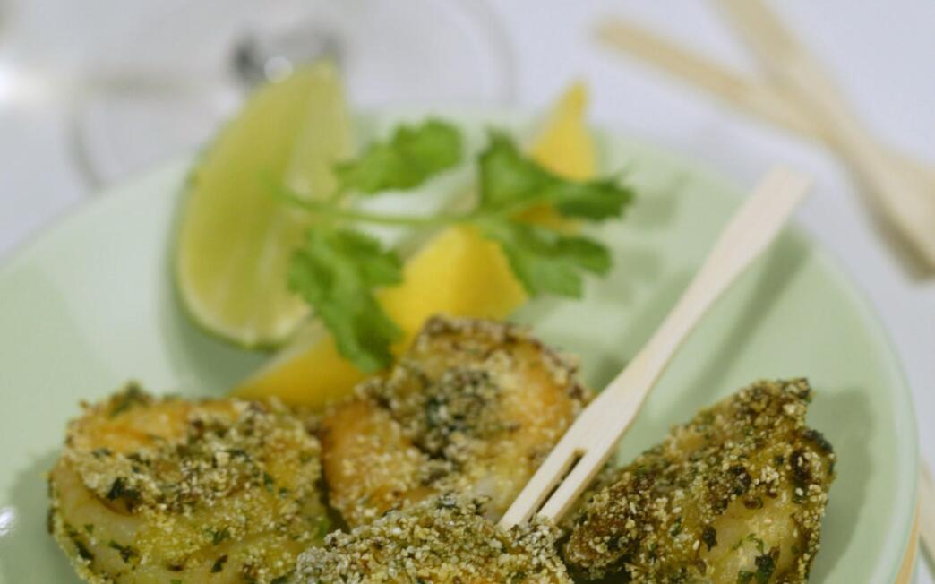 Bombay Cafe's haldi jhinga (crisp marinated shrimp)