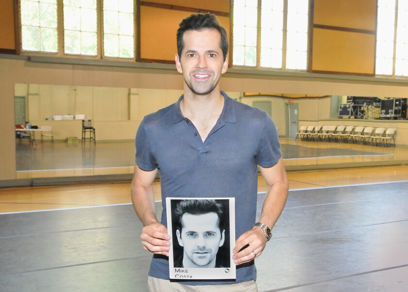 "Robert Fairchild, in Los Angeles for the first day of rehearsals for ""A Chorus Line."""