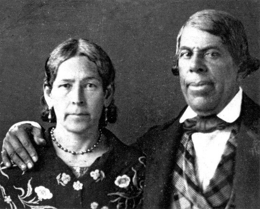 Don Pio Pico and his wife