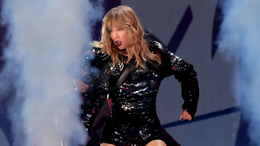 Review Taylor Swift Is A Willing Warrior In Pop Stardom S Celebrity Death Match Los Angeles Times