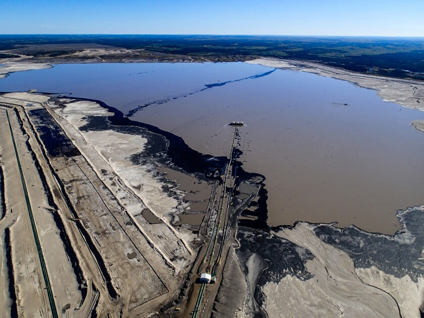 The tar sands, tailings pond