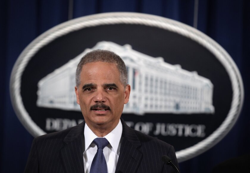 U.S. Atty. Gen. Eric Holder announces settlement with ratings company Standard & Poor's.