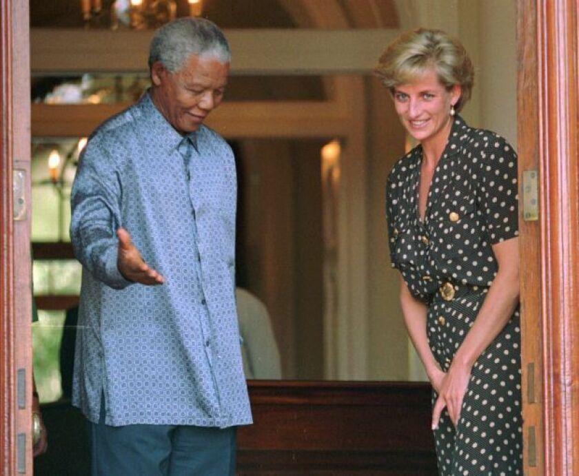 Diana Princess Of Wales, Nelson Mandela