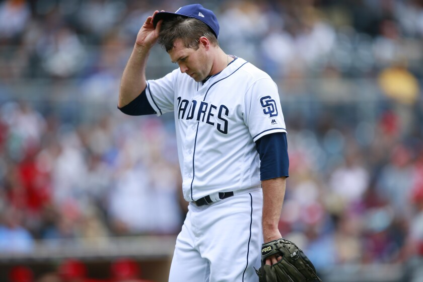 Craig Stammen gave up two runs in the eighth inning against the Philadelphia Phillies on Wednesday after allowing two key hits in the seventh.