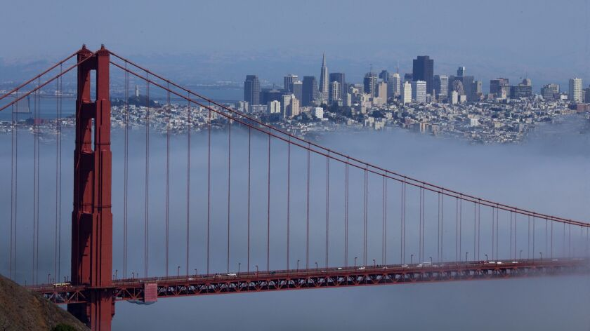 SAN FRANCISCO, CA -- TUESDAY, JULY 26, 2016: A view of one of California's most beloved coastal gem