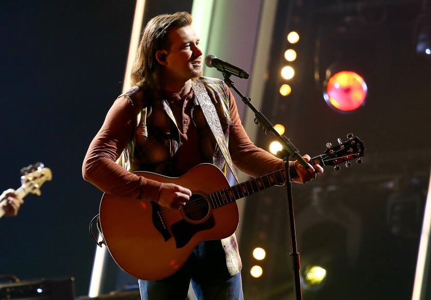 "Morgan Wallen performs at ""The 54th Annual CMA Awards"" broadcast on Wednesday, November 11, 2020 in Nashville."