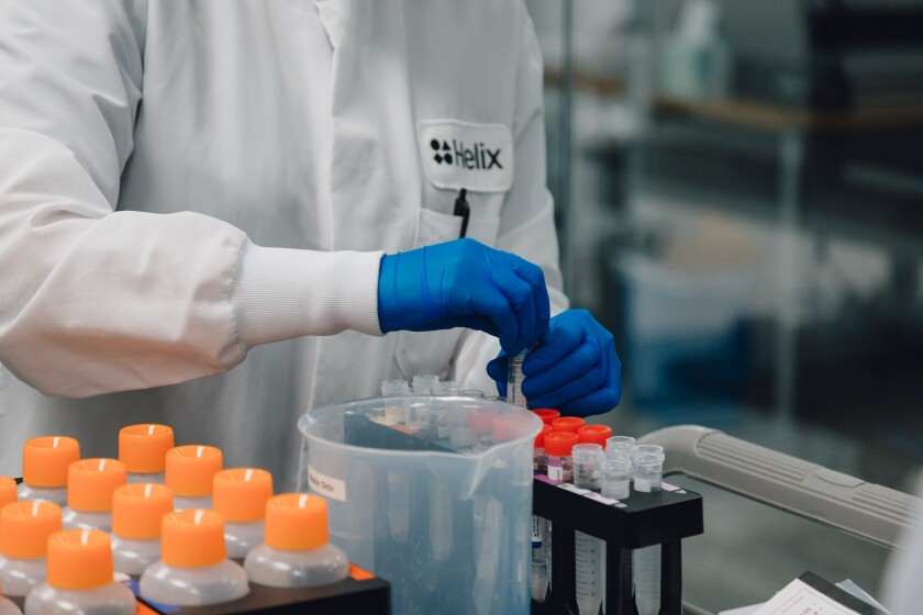 Helix, a genomics start-up, has inked a deal with San Diego County to provide COVID-19 tests