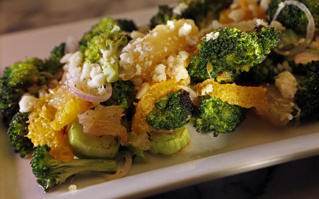 August's charred broccoli salad