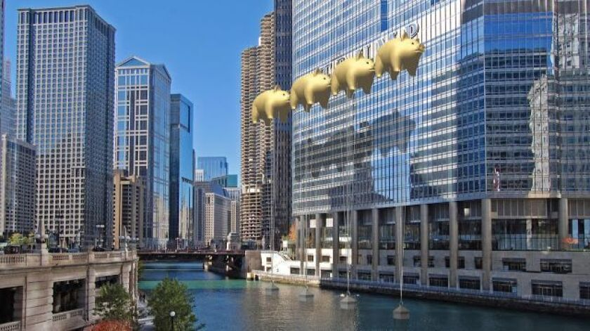 A humorous rendering by the architects at New World Design shows how the city can block views of Trump signage.