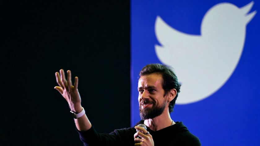Twitter chief executive and co-founder Jack Dorsey.