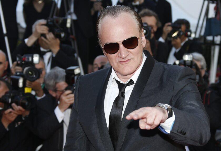 Quentin Tarantino at the Cannes Film Festival.